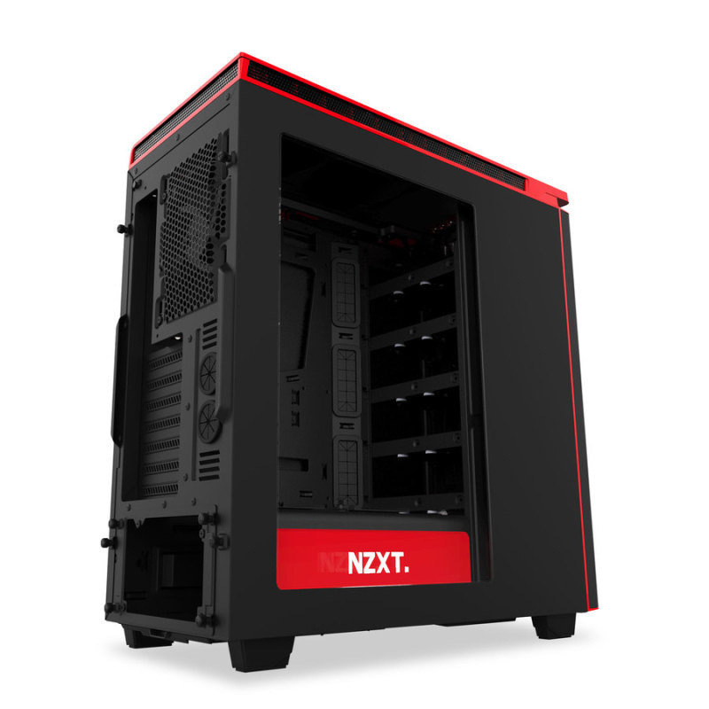 EXDISPLAY NZXT H440 New Edition Matte Black/Red Case with Side Window