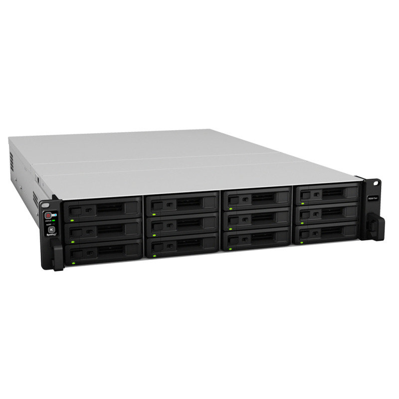 Synology RS3617XS+ 96TB (12 x 8TB WD RED PRO) 12 Bay Rack NAS