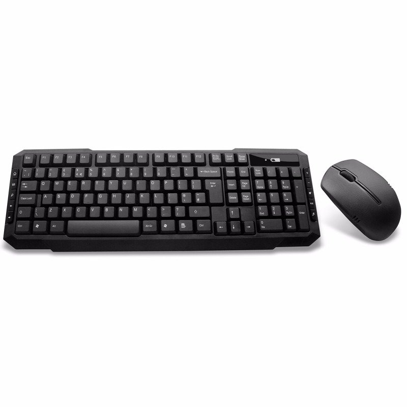 Value Wireless Keyboard & Mouse Combo Set Black