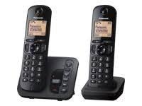 Panasonic KX-TGC222EB DECT Phone with TAM and Call Blocking - Twin - Black