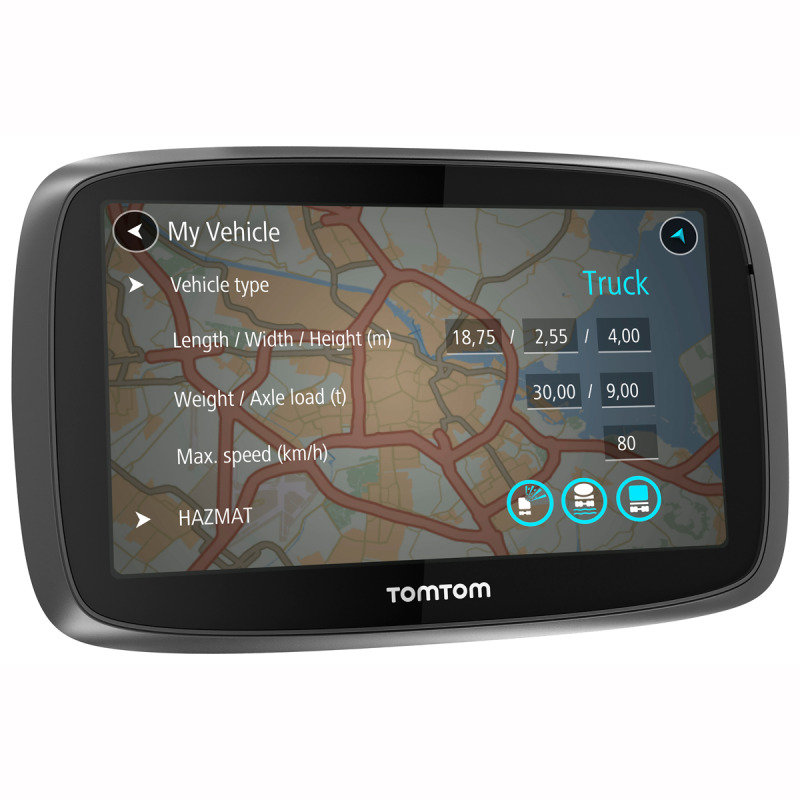 TomTom Trucker 5000 5&quot Truck Sat Nav with European Maps & Lifetime Map Updates