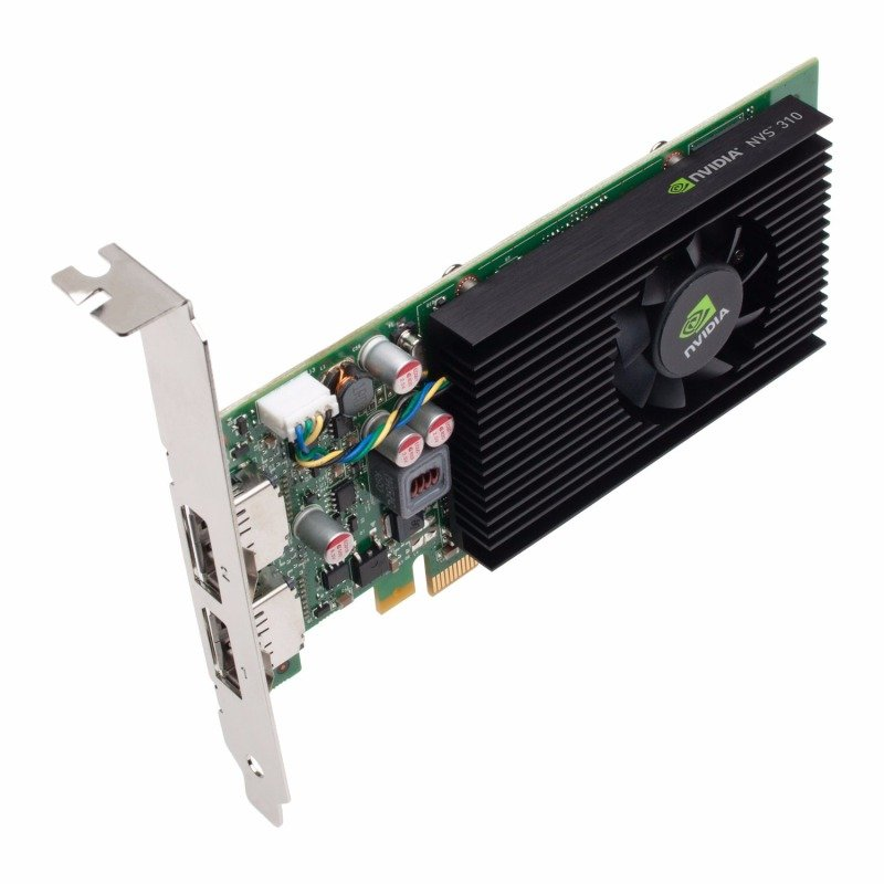 PNY NVIDIA QUADRO NVS 310 1GB PCIe DUAL DP Graphics Card VCNVS310DP-1GB-PB