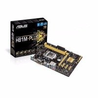 ASUS H81M-PLUS LGA1150 socket  H81 chipset DDR3 upto 16Gb 1600Mhz uATX Motherboard - 90MB0GI0-M0EAY0
