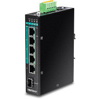 TRENDnet 6-Port Hardened Industrial Gigabit PoE+ Layer 2 Managed DIN-Rail Switch