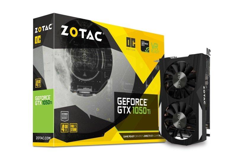Zotac Geforce GTX 1050 Ti OC 4GB GDDR5 Graphics Card