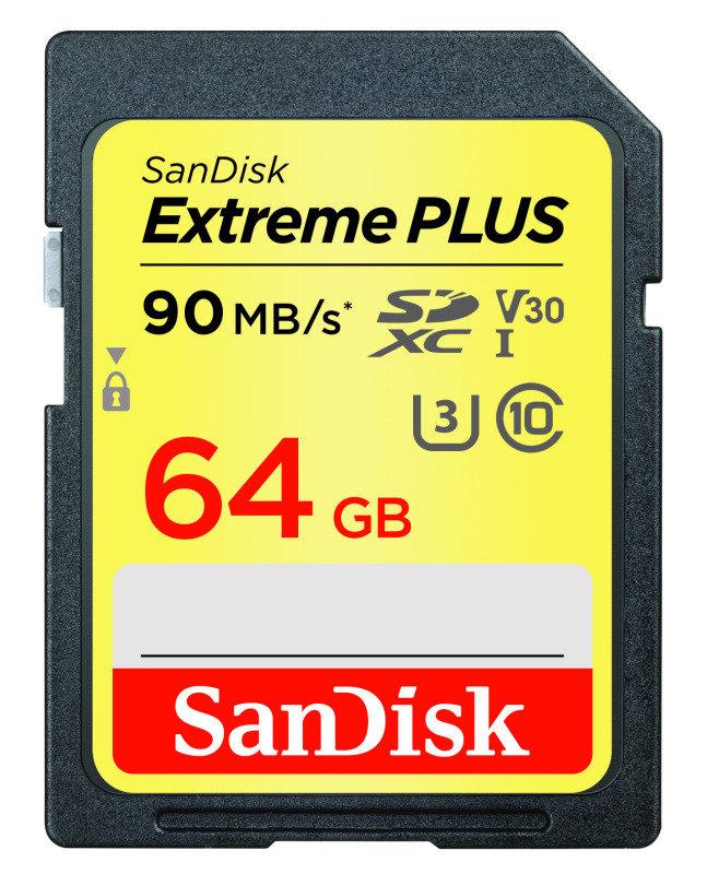 sandisk extreme plus 64gb sdxc uhs 1 memory card ebuyer. Black Bedroom Furniture Sets. Home Design Ideas