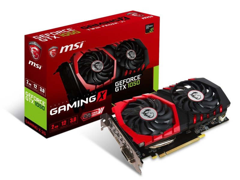 MSI GeForce GTX 1050 GAMING X 2GB GDDR5 Graphics Card