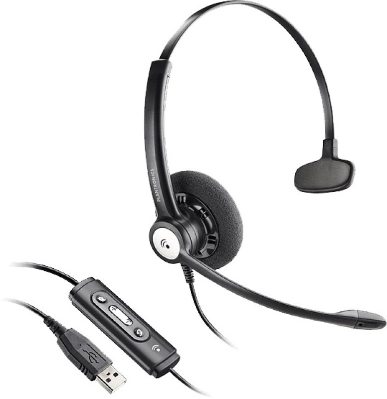 Plantronics Entera HW121N-USB Over-the Head Headset with Noise Cancelling Microphone