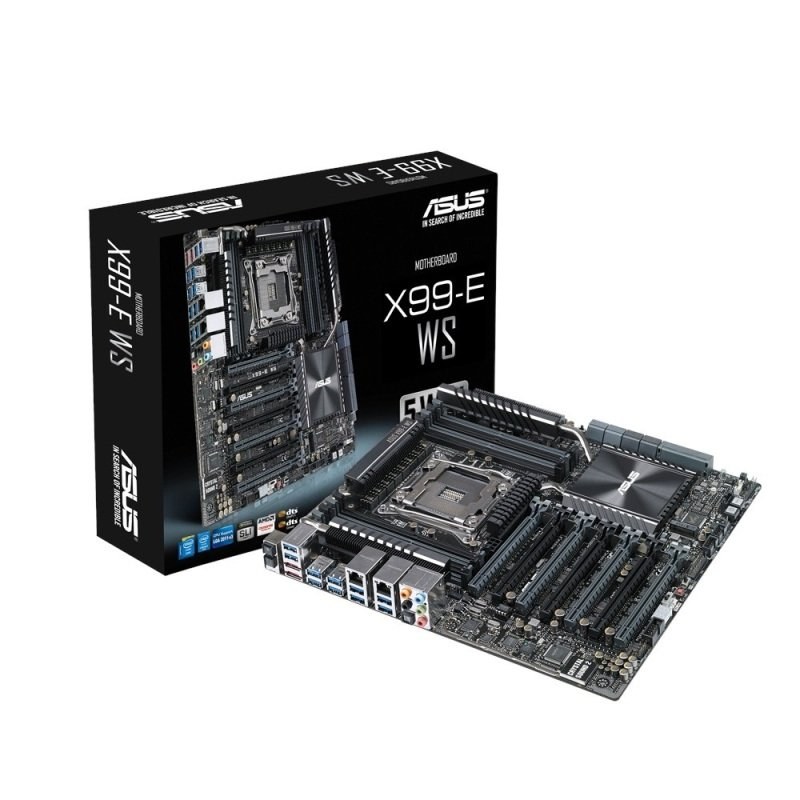 EXDISPLAY Asus X99-E WS Socket 2011-v3 8-Channel HD Audio CEB Motherboard
