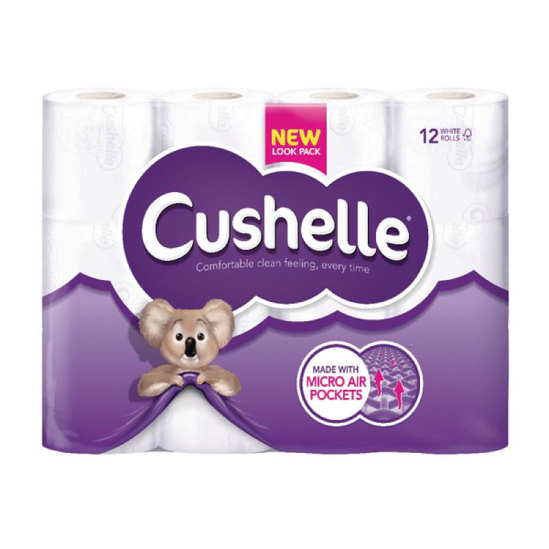 Image of Cushelle Toilet Roll White - 12 Pack