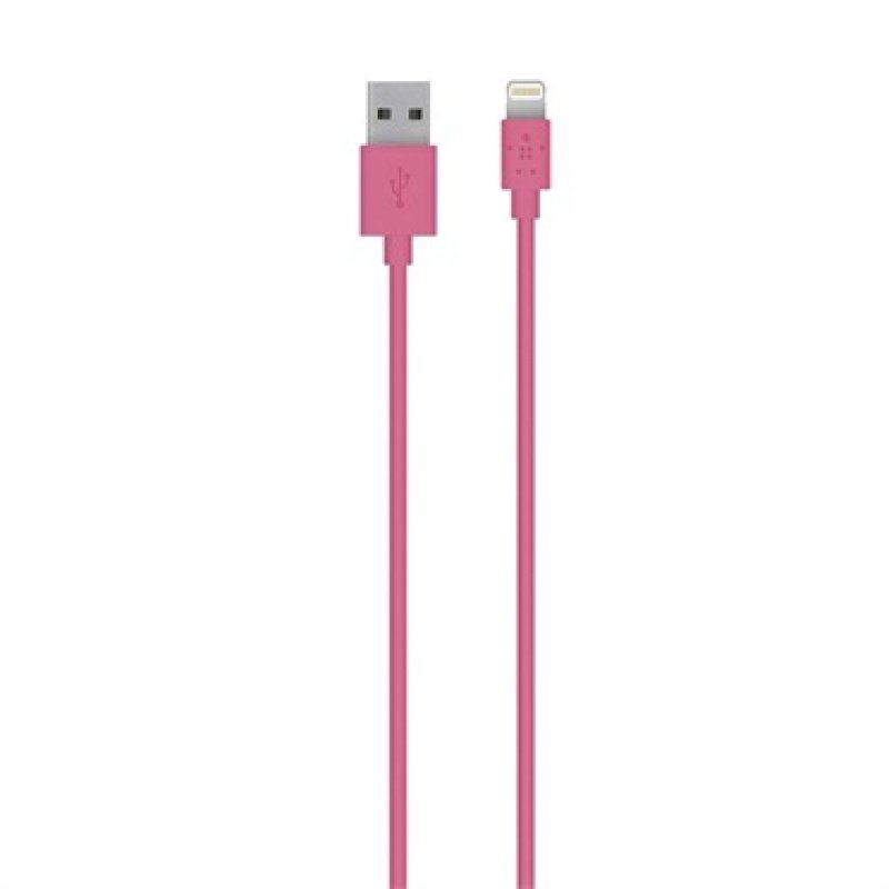 Belkin 3 M Lightning To Usb Charge And Sync Cable For Apple Iphone 5  5c  5s  6  6 Plus  Ipad Air  Air 2 And Ipad Mini  Pink (mfi Approved)