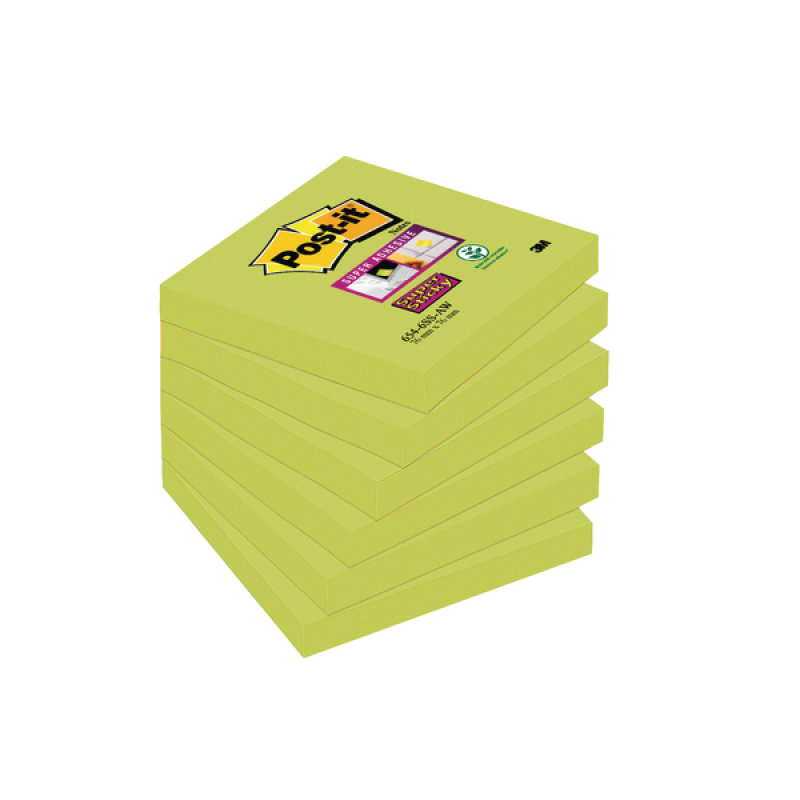 Postit Super Sticky 76x76mm Asparagus P6