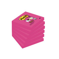 Postit Super Sticky 76x76mm Fuchsia Pk6