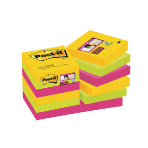 Postit Ss Notes Rio 47.6x47.6mm Pk12
