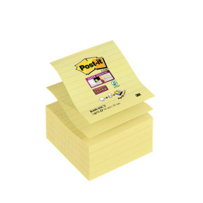 Postit Ss Notes Can Ylw Lined 101x101 P6
