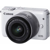 Canon EOS M10 18MP Wi-Fi Compact System Camera (White) with 15-45 mm f/3.5-f/6.3 IS STM Wide-angle Zoom Lens