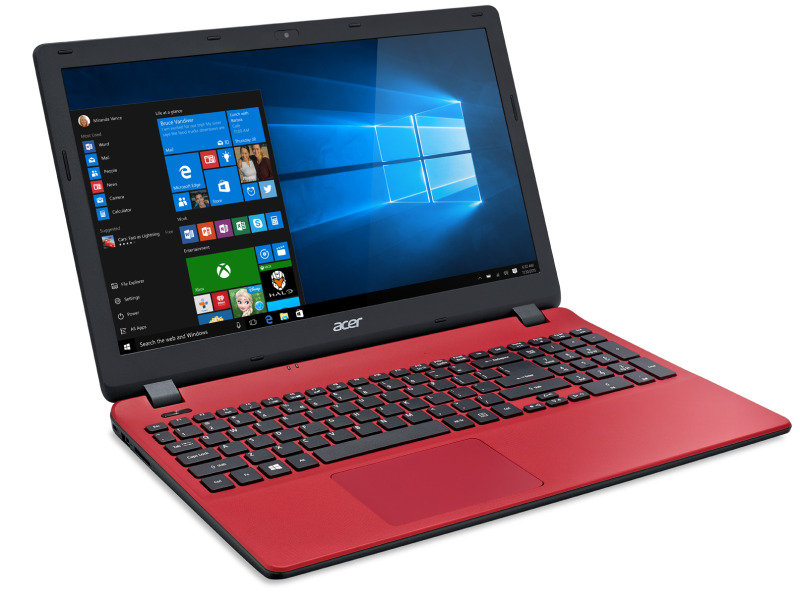 Acer Aspire ES 15 (ES1571) Laptop Intel Core i35005U 2GHz 6GB RAM 128GB SSD 15.6&quot FHD DVDRW Intel HD WIFI Windows 10 Home 64bit  Red
