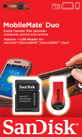 SanDisk SDDRK-121-B35 Card Reader Duo - Micro SD/SDHC/M2 Memory Cards