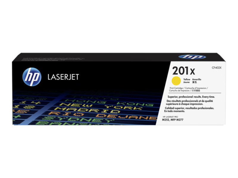 HP 201X High Yield Yellow Original Toner Cartridge - CF402X