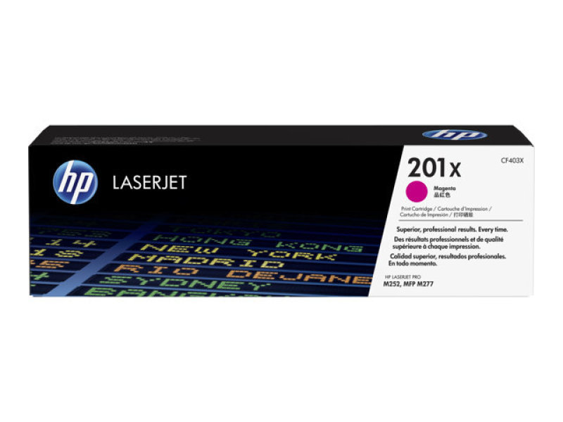 HP 201X Magenta Original Laserjet Toner Cartridge with JetIntelligence - CF403X
