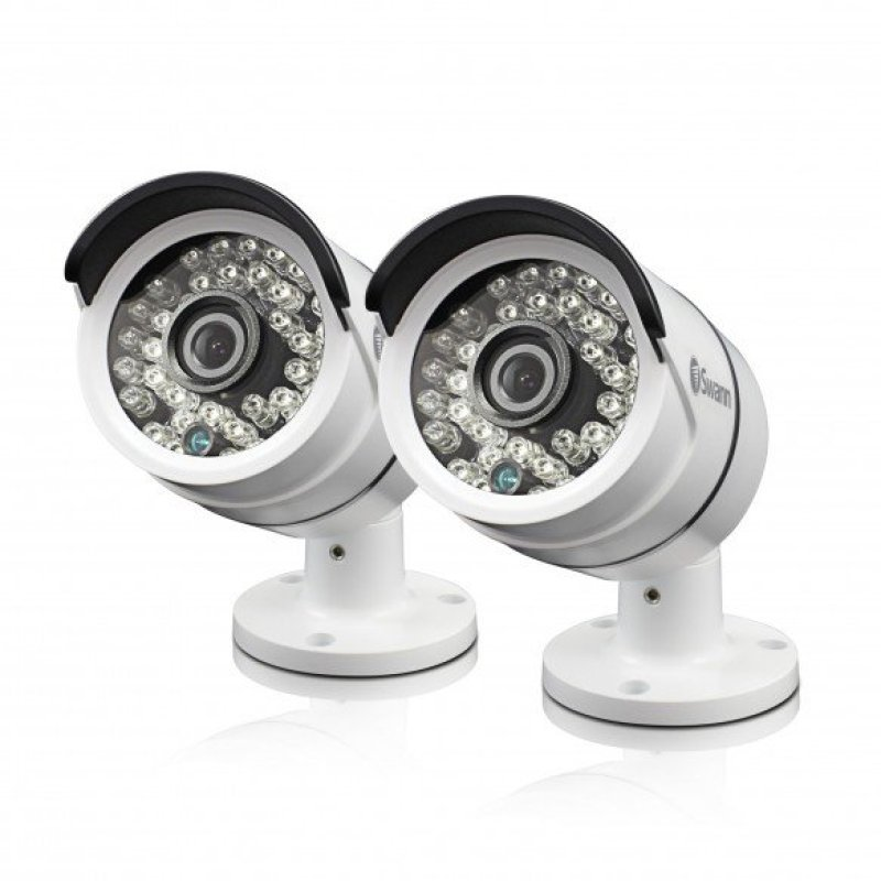 Image of Swann PRO-T858 3 Megapixel HD Bullet Camera for Swann Super HD 4750 Series DVRs Twin Pack Bundle