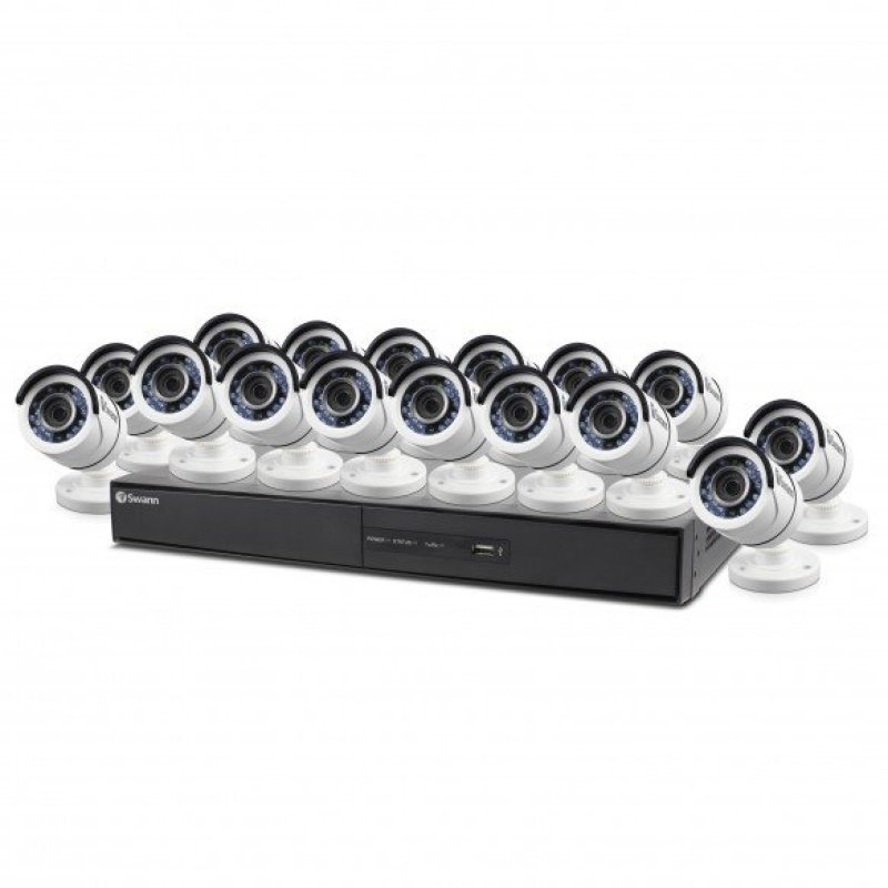 Swann DVR164500 16 Channel 1080p Digital Video Recorder with 16 x PROT855 Cameras