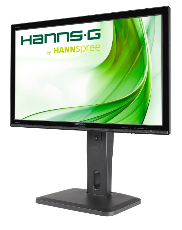 EXDISPLAY Hannspree Hp245hjb 23.8 Inch Ips  Hdmi  Dvi  Speakers  Height Adjust And Pivot