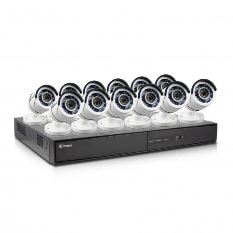 Swann DVR164500 16 Channel 1080p Digital Video Recorder with 12 x PROT855 Cameras