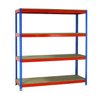 Fd Shelving Heavy Duty Painted Unit Orange/Zinc 379051