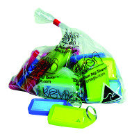 Kevron Plastic Clicktag Key Tag Giant Assorted Pk 25