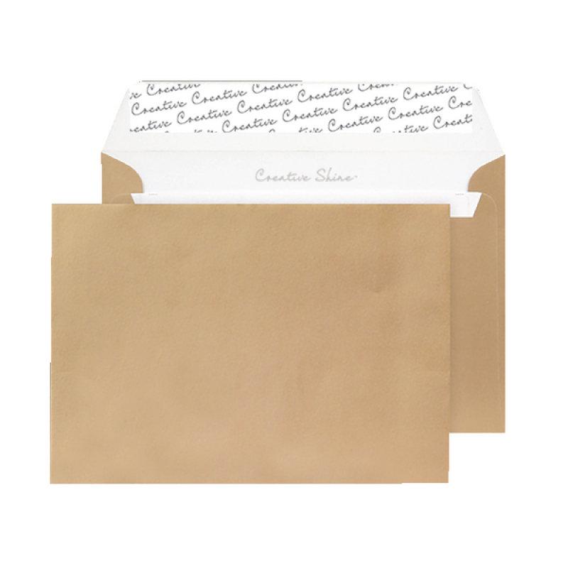 Image of C5 Wallet Envelope Peel and Seal Metallic Gold Pack of 250