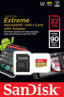 SanDisk Extreme 32GB microSD UHS-I Memory Card