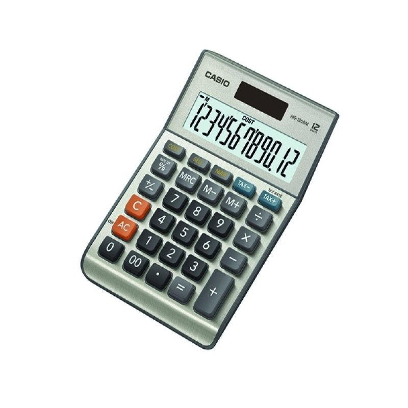 Casio 12digit CostSellMarginTax Calculator Silver