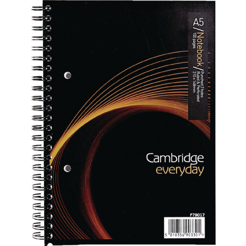 Image of Cambridge Everyday A5 Wirebound Notebook 100 Pages