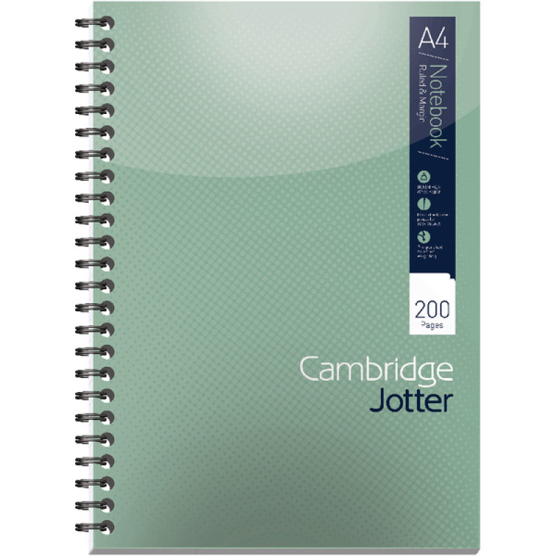 Cambridge Jotter Notebook A4 Feint Ruled 200 Pages