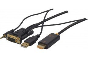 Vga With Audio To Hdmi Adapter Cable - 2m