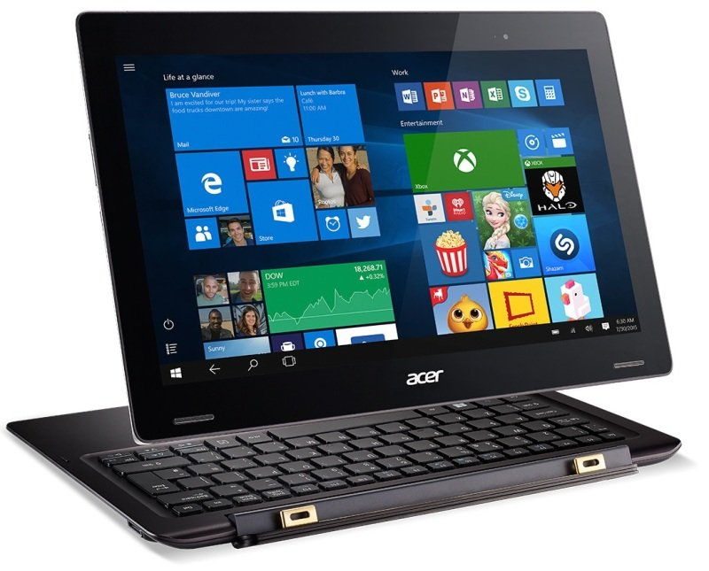 Acer Switch Alpha 12 2in1 Intel Core i56200U 2.3GHz 4GB RAM 128GB SSD 12&quot QHD Touch 2160 x 1440 NoDVD Intel HD WIFI Webcam Bluetooth Windows 10 Pro 64bit