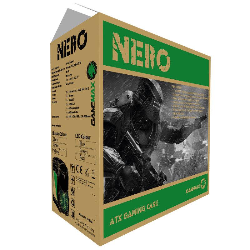 Game Max Nero White MATX Case with Side Window