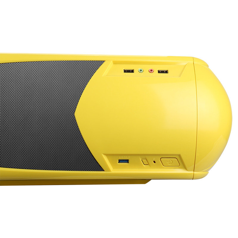 Game Max Nero Yellow MATX Case with Side Window