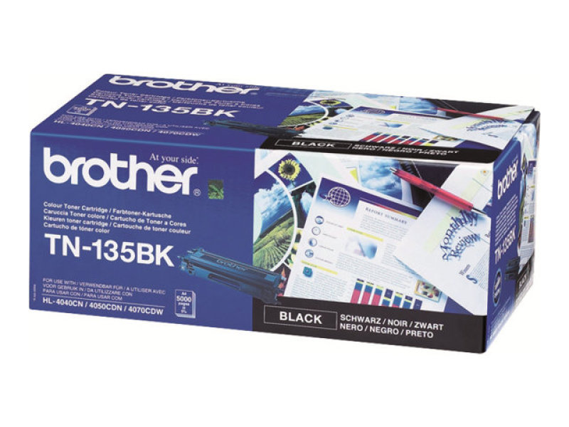 Brother TN-135BK Black Toner cartridge - 5,000 Pages
