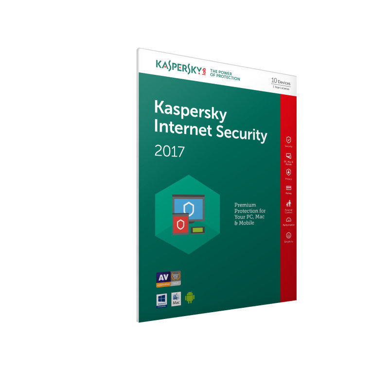 Kaspersky Internet Security 2017 10 Users 1 Year  Electronic Software Download