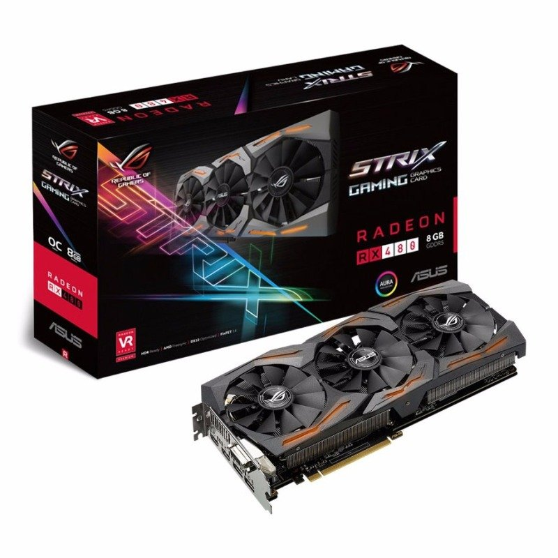ASUS AMD Radeon RX480 8GB GDDR5 Gaming Graphics Card STRIXRX480O8GGAMING