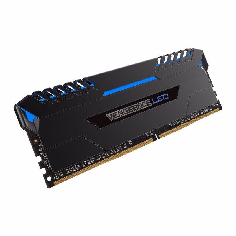 Corsair Vengeance Blue LED 16GB DDR4 3000mhz Memory Kit- CMU16GX4M2C3000C15B