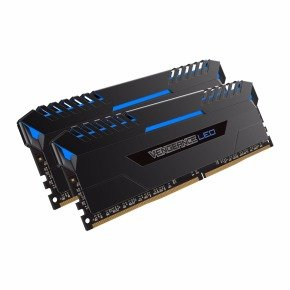 Corsair Vengeance Blue LED 16GB DDR4 3200 Memory Kit- CMU16GX4M2C3200C16B