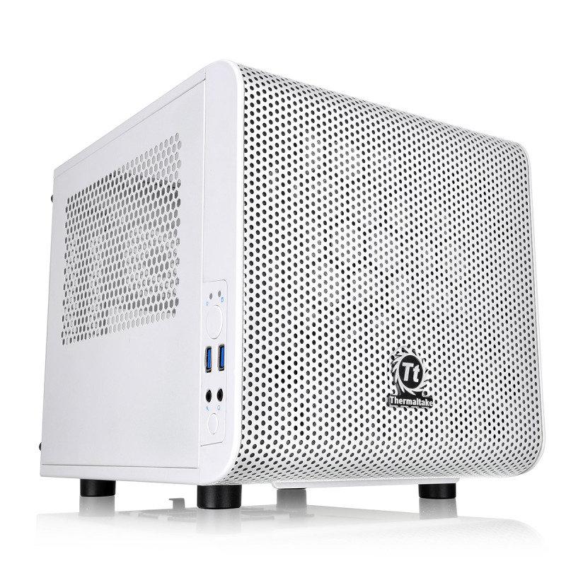 Thermaltake Core V1 Snow MiniITX Cube Case With Side Window