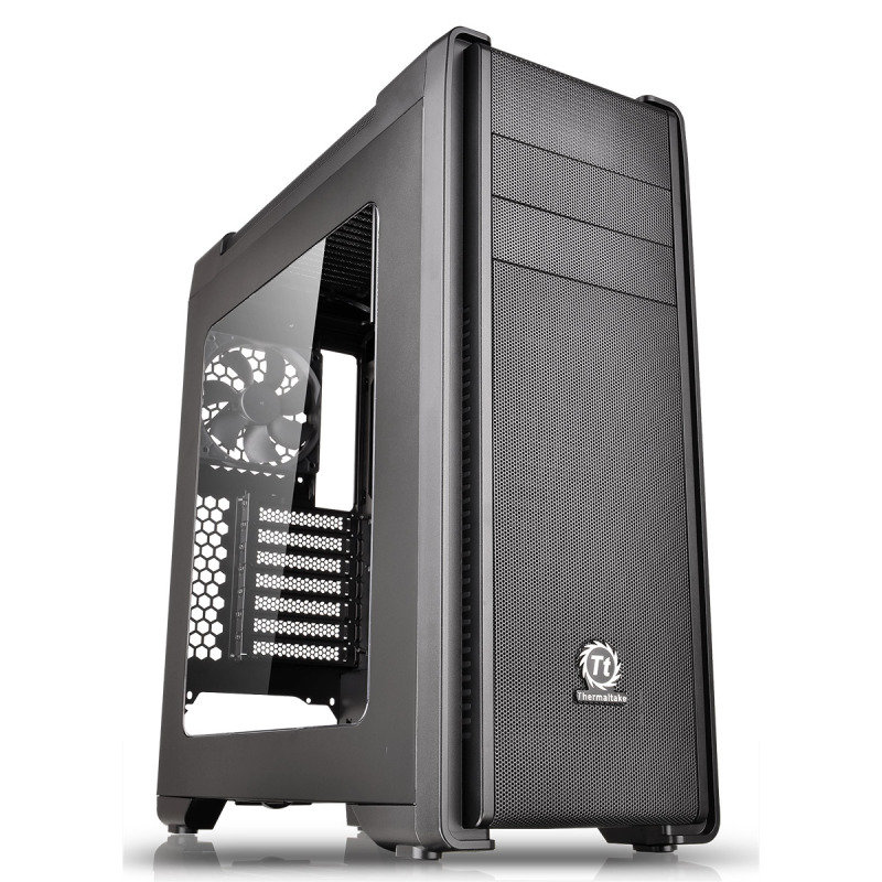 Thermaltake Versa C21 Mid Tower Case with Side Window & RGB LED