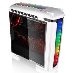 Thermaltake Versa C22 White Mid Tower Case with Side Window & RGB LED