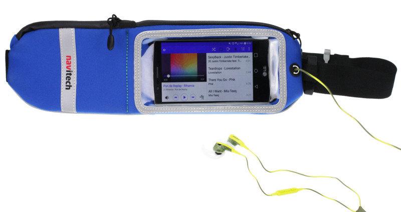 """Navitech 5-6"""" Smartphone Sports Belt - Blue"""