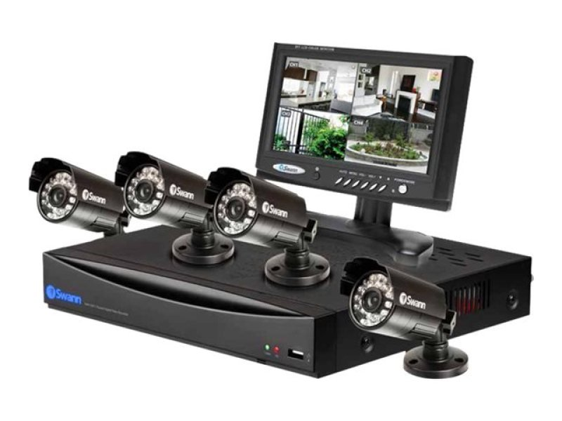 "Swann Advanced Series CCTV Monitor  DVR  4 cameras  7""  8 channels"