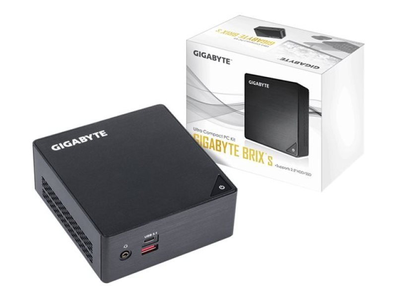 "Gigabyte Kaby Lake i7 BRIX S Barebone Mini PC Kit with 2.5"" SATA Bay GB-BKi7HA-7500"